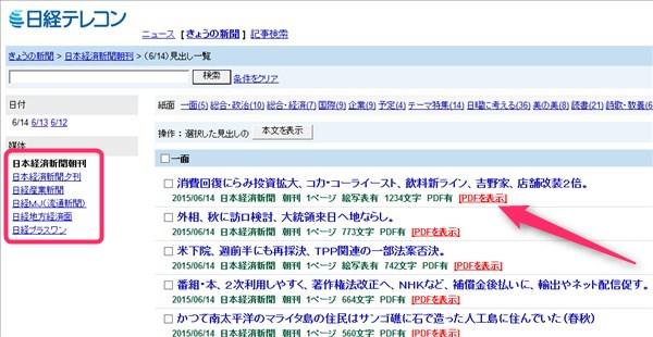 楽天証券のマーケットスピードで日経新聞を無料で読む