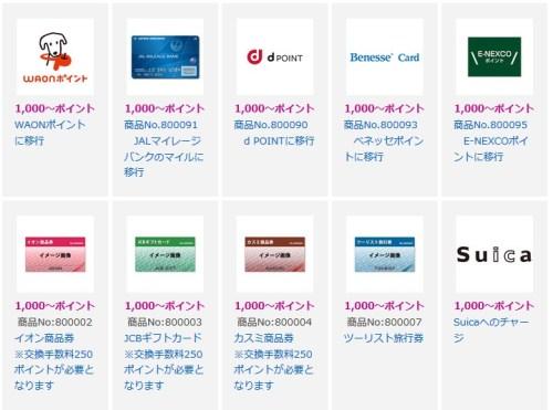 イオンカードのポイント交換