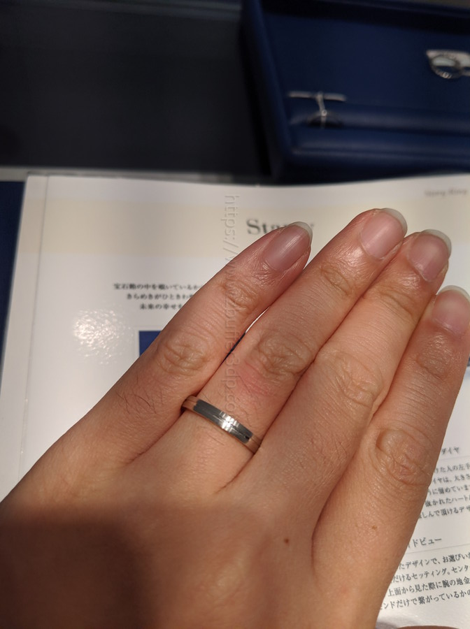 銀座ダイヤモンドシライシで試着した結婚指輪