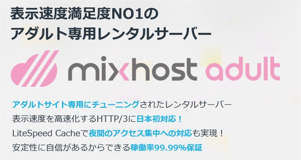 mixhostはアダルト専用サーバがある