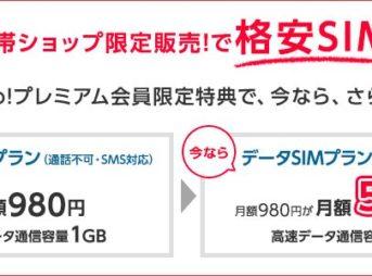 ワイモバイルのデータSIMプラン