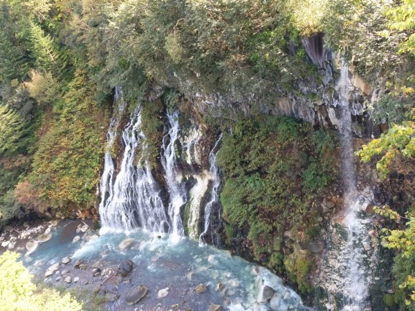 白髭の滝と美瑛川