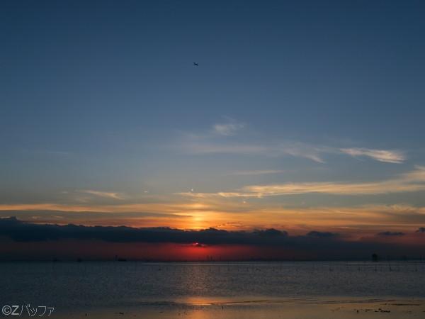 江川海岸の夕日の写真