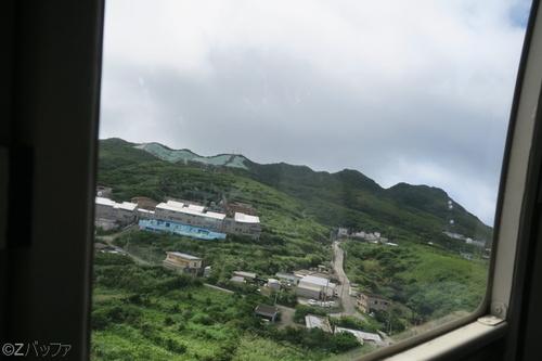 ヘリコプターからの青ヶ島