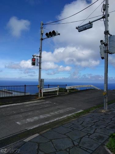 青ヶ島唯一の信号機