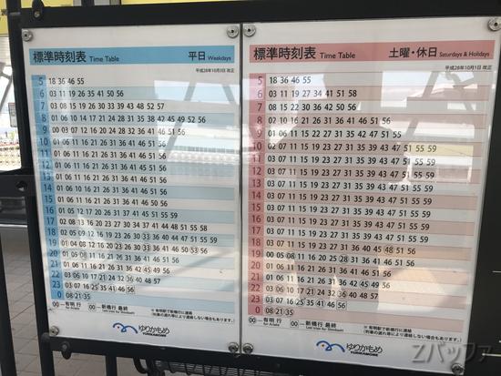 市場前駅の時刻表
