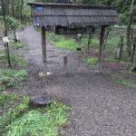 塔のへつり駅の象徴門
