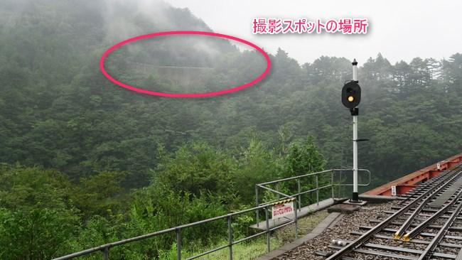 奥大井湖上駅の撮影スポット