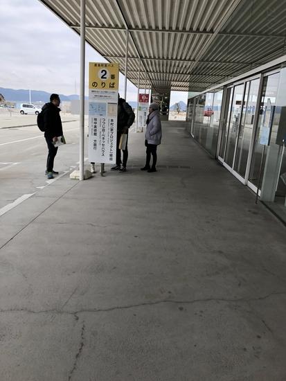 宮浦港のバス停