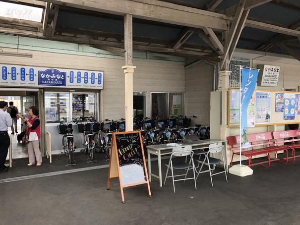 那珂湊駅内にあるレンタルサイクル