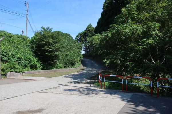 筒石駅へとつながる道路