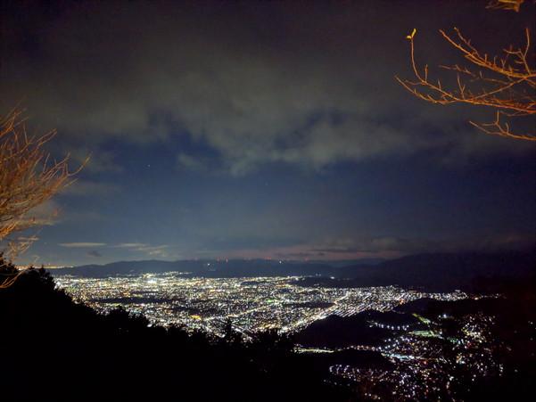 比叡山から見た京都の夜景