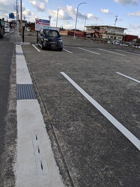 長浜港の一般客用駐車場