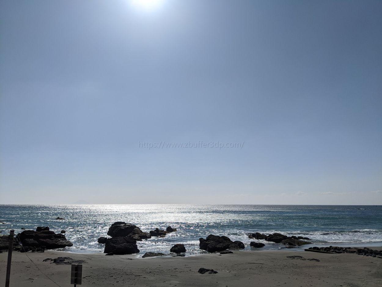 冬の今井浜海岸