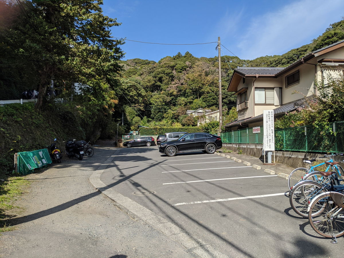 銭洗弁財天宇賀福神社の駐輪場