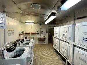 飛鳥Ⅱ乗船記、セルフランドリー部屋で洗濯とアイロン掛けを試してみた