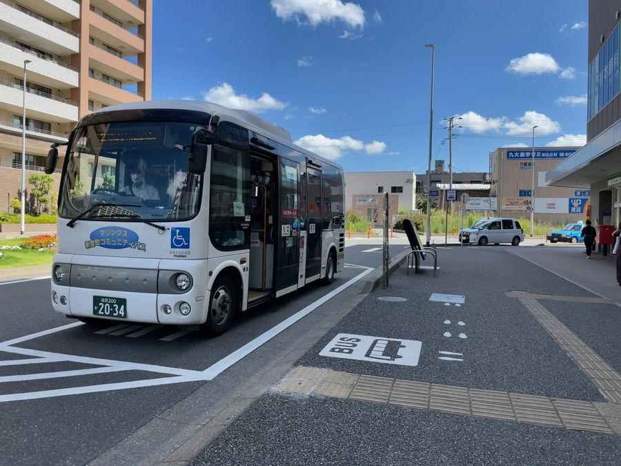 JR福工大前駅から出発するコミュニティバス