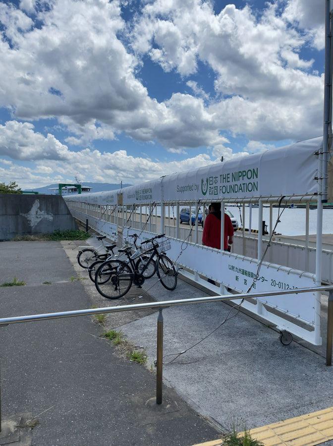 相島渡船待合所から港までの道