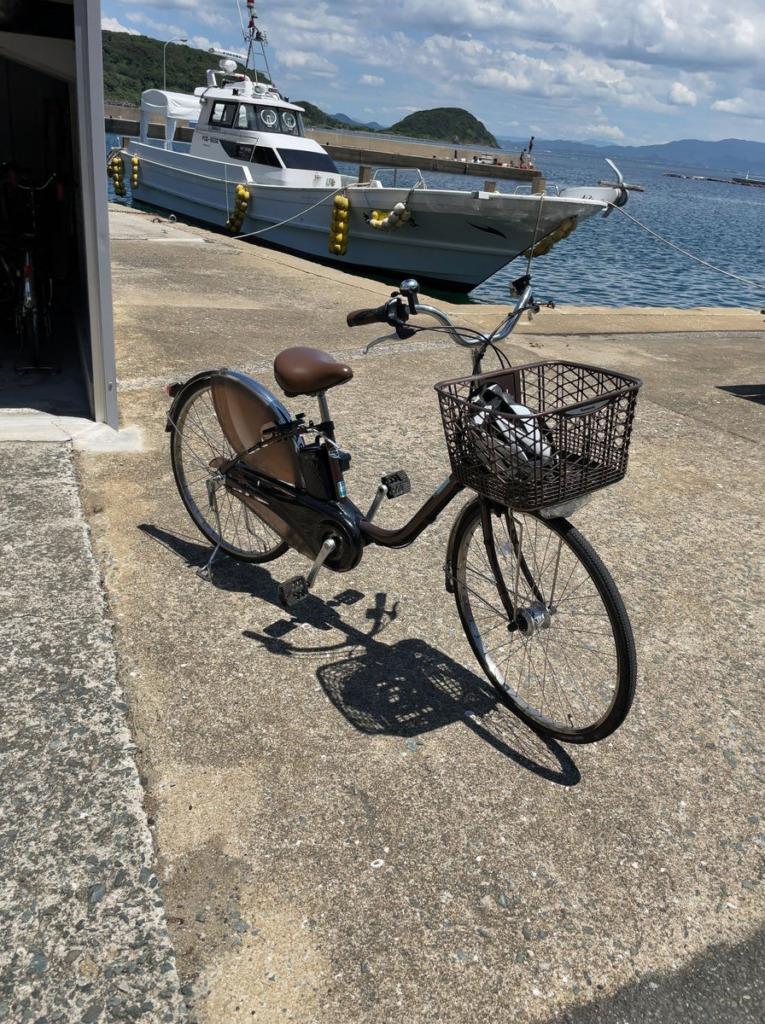 相島のレンタルサイクルは電動自転車