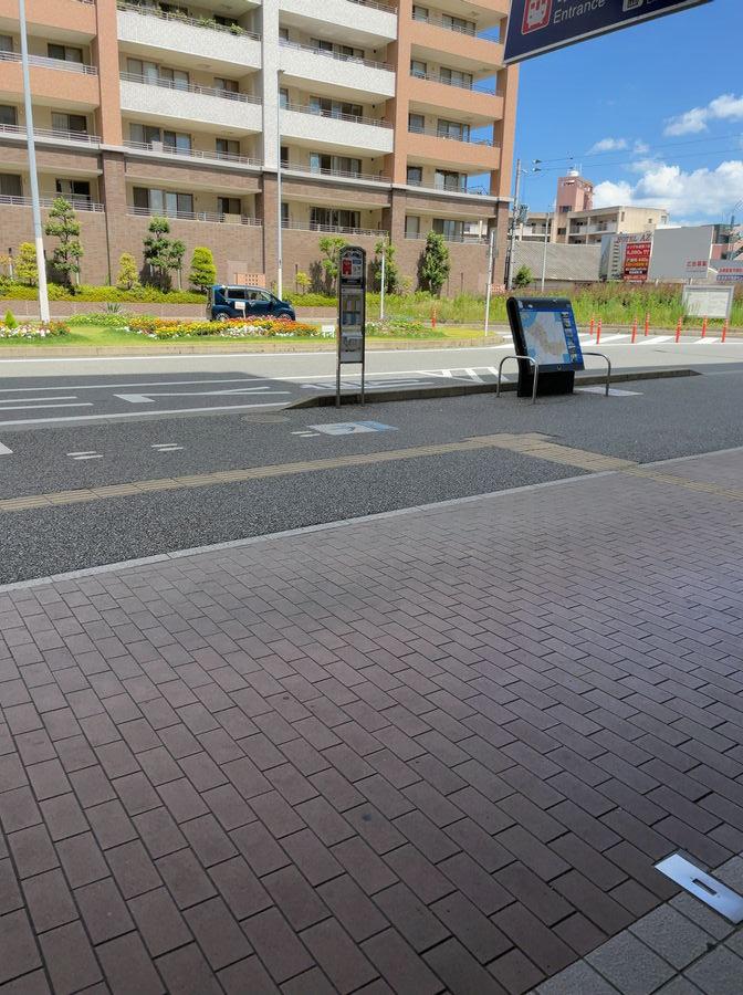 JR福工大前駅北口にあるバス停