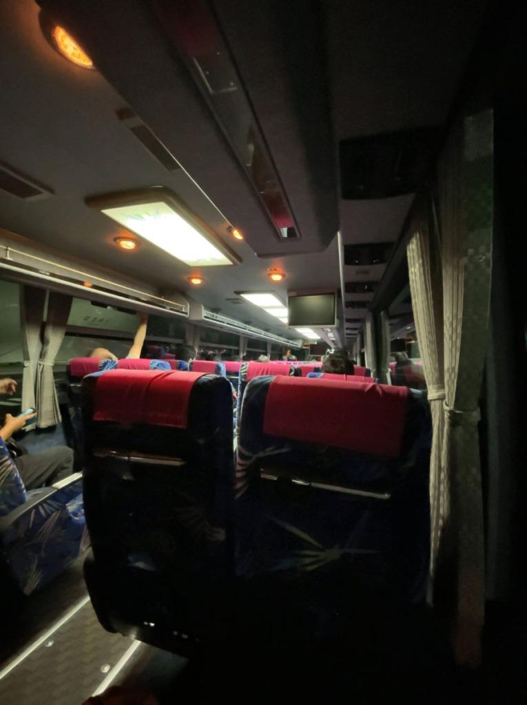 新門司港からの無料シャトルバス車内