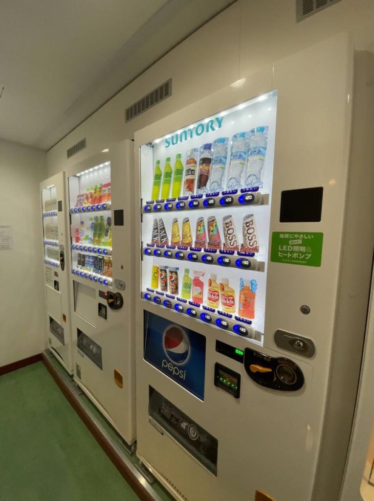 「はまゆう」4階の自動販売機