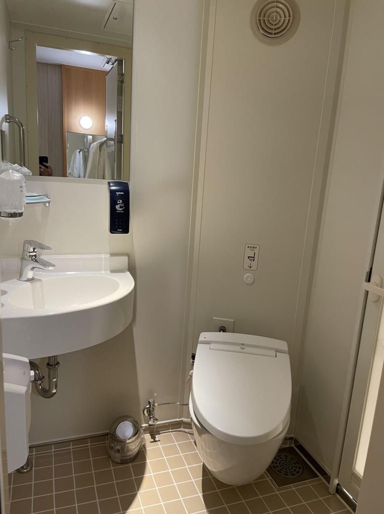 ステート和洋室のウォシュレットトイレ