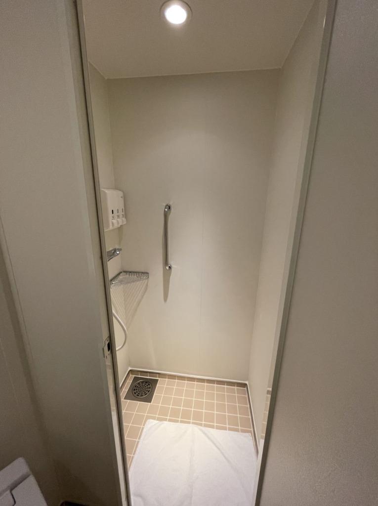 トイレ横にあるシャワールーム