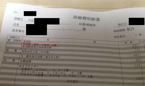診療費明細書(レセプト)