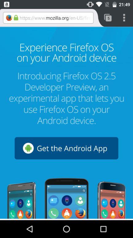 Firefox OS 2.5 Developer Preview