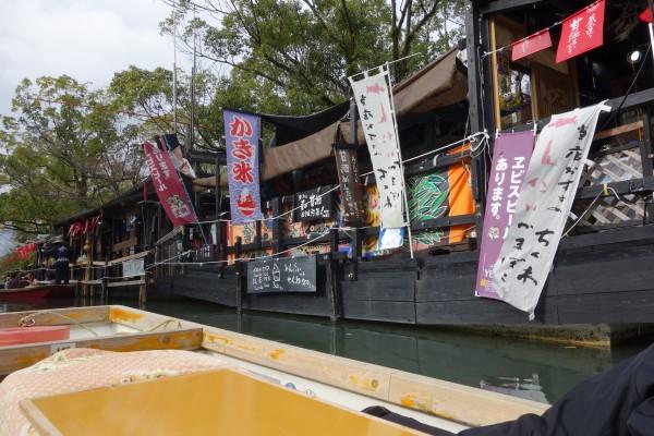 柳川の川下り風景(売店)