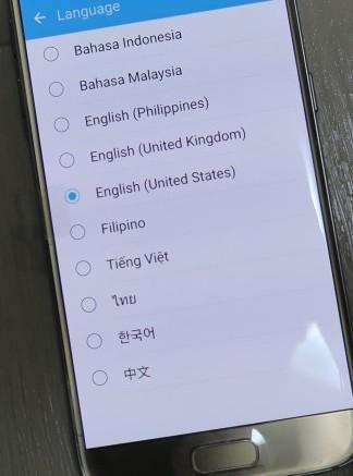 GALAXY S7の言語設定