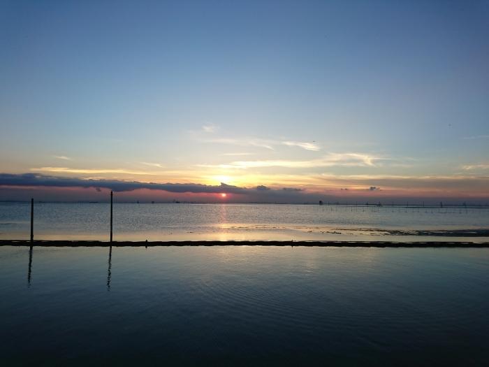 Xperia X Performaceのカメラで撮影した夕日写真