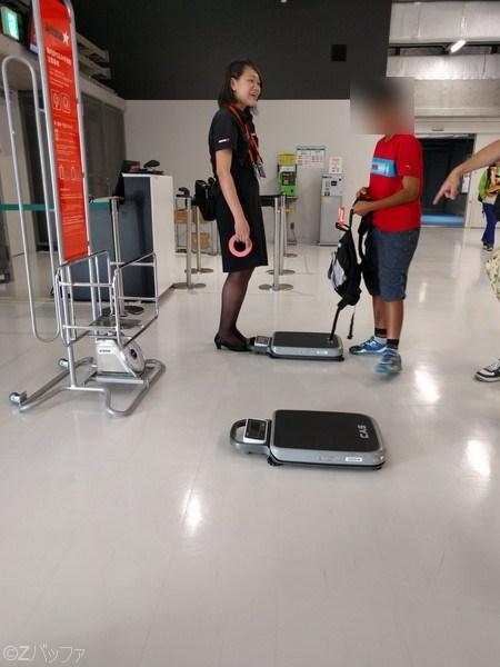 ジェットスター機内持込手荷物重量検査