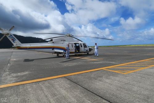東京愛らんどシャトルのヘリコプター