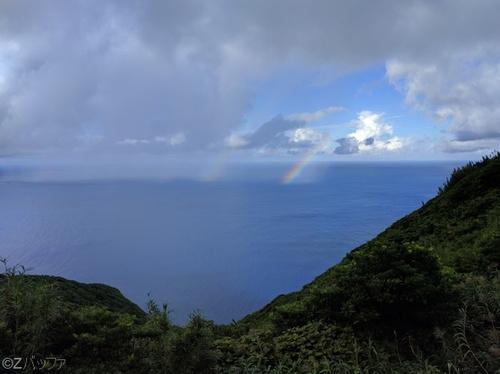 青ヶ島で見た虹