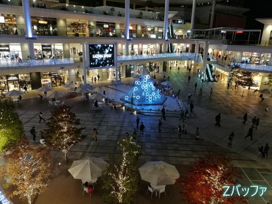 honor8のカメラで撮影した夜のラゾーナ川崎