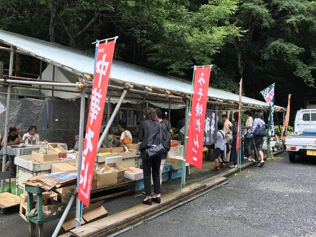 井川駅近くにある売店