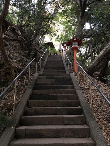 等々力不動尊本堂への階段