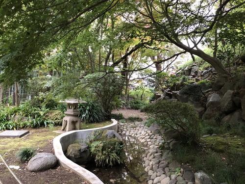 等々力渓谷内の日本庭園