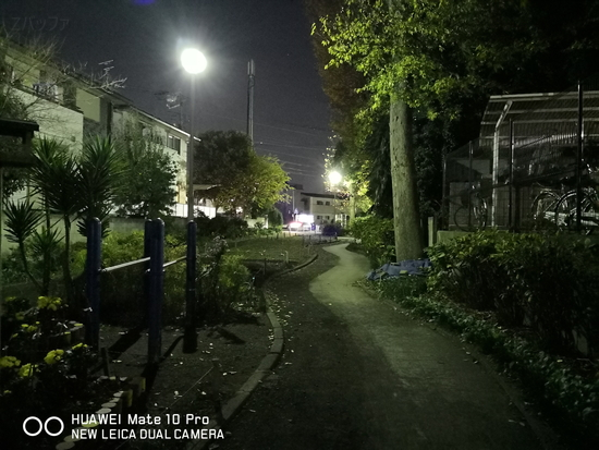 Mate 10 Proで撮影した夜景写真