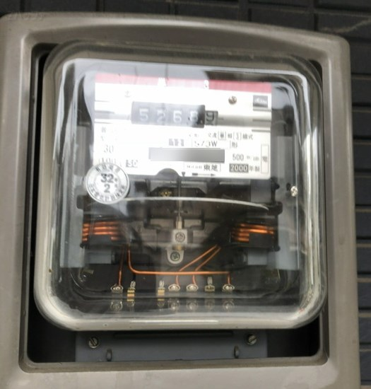 交換前の電気メーター