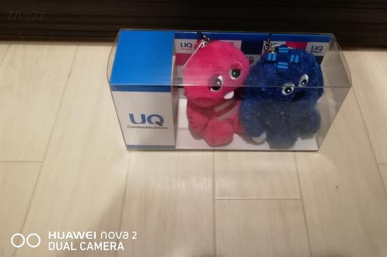 nova 2で撮影したUQモバイルのマスコット