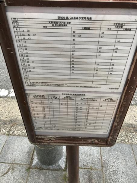 那珂湊駅前のバス停