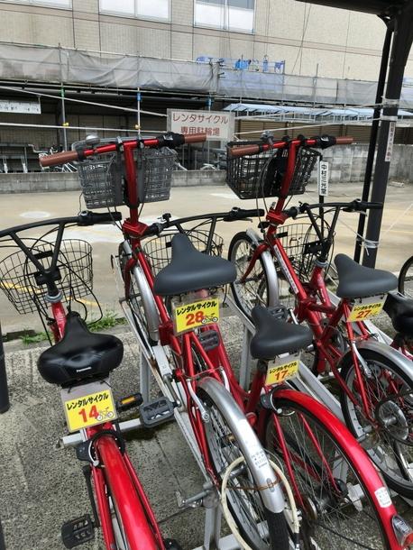 高岡駅前で自転車を借りる