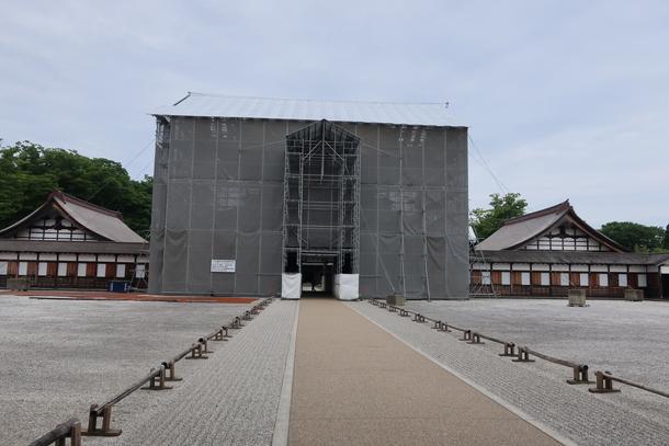 大規模修繕工事が行われている瑞龍寺