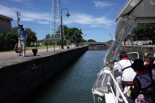 中島閘門の入り口
