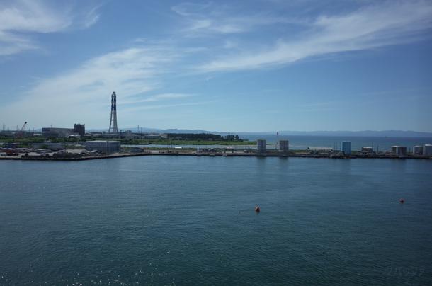 富山港展望台から見る富山湾