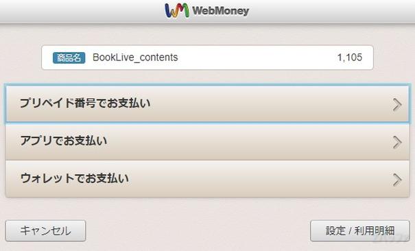 ウェブマネーでの支払い方法は3種類ある