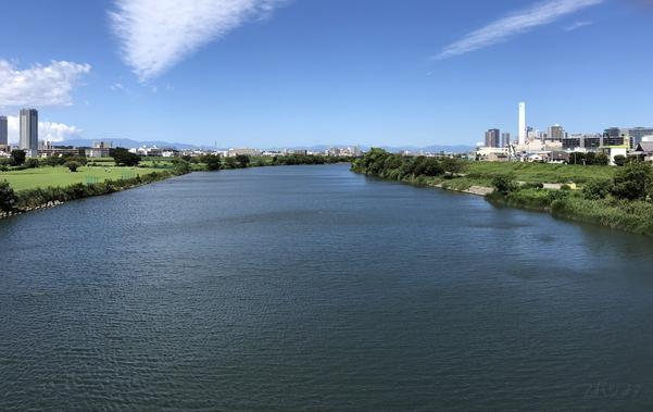 iPhone 8で撮影した多摩川